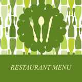 Le concept de la carte de restaurant Images libres de droits