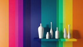 Le concept de la conception intérieure à la maison moderne 3D rendent Photographie stock libre de droits