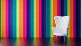 Le concept de la conception intérieure à la maison moderne 3D rendent Images stock