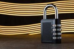 Le concept de la fermeture, protection Blockchain de technologie, chiffrage du trafic Internet Protection par mot de passe deux b Photographie stock
