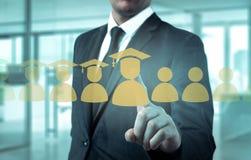 Le concept de la formation du personnel En augmentant la compétence et augmentez les statistiques Photo libre de droits