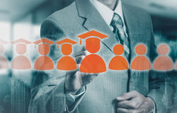 Le concept de la formation du personnel En augmentant la compétence et augmentez les statistiques Photographie stock libre de droits