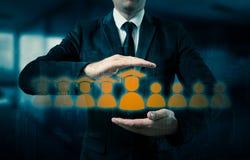 Le concept de la formation du personnel En augmentant la compétence et augmentez les statistiques Photos libres de droits