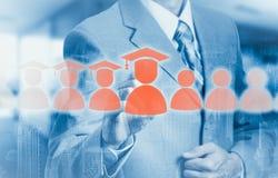 Le concept de la formation du personnel En augmentant la compétence et augmentez les statistiques Photo stock