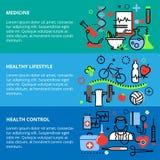 Le concept de la médecine, du style sain et du contrôle sanitaire objecte illustration libre de droits