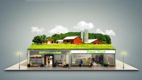 le concept de la nourriture écologiquement pure présente l'épicerie supermar Images libres de droits