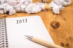 Le concept de la nouvelle année 2017 Image libre de droits