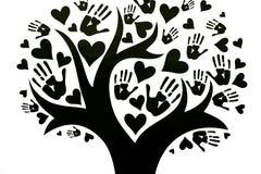 Le concept de la paix, de l'unité, de l'amitié et de l'amour illustration de vecteur