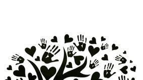 Le concept de la paix, de l'unité, de l'amitié et de l'amour photographie stock
