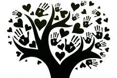Le concept de la paix, de l'unité, de l'amitié et de l'amour images stock