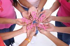 Le concept de la santé et du cancer du sein de prévention Photo stock