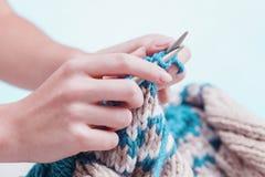 Le concept de passe-temps - tricotant Image libre de droits