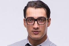 Le concept de reconnaissance des visages avec le portrait d'homme d'affaires image stock