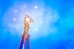Le concept de se relier au service en ligne Photo libre de droits
