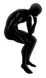 Le concept de silhouette de penseur Image libre de droits