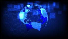 Le concept de transmission de données, quelques éléments de cette image a fourni par la NASA illustration de vecteur