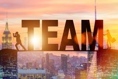 Le concept de travail d'équipe avec l'équipe de mot Photo stock