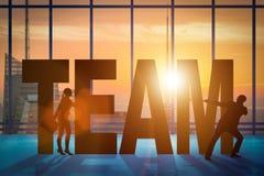Le concept de travail d'équipe avec l'équipe de mot Photos stock