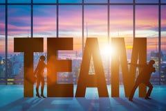 Le concept de travail d'équipe avec l'équipe de mot Photographie stock