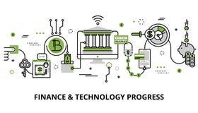 Le concept des affaires modernes, les finances et la technologie progressent illustration de vecteur