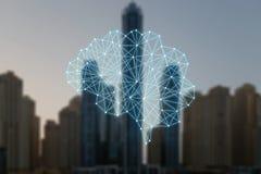 Le concept des choses autonomes et de la ville fut?e illustration de vecteur