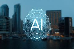 Le concept des choses autonomes et de la ville fut?e images stock