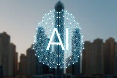 Le concept des choses autonomes et de la ville fut?e illustration stock
