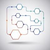 Le concept des connexions d'utilisateur. Gradient Image libre de droits