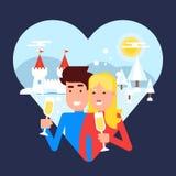 Le concept des couples de déplacement illustration libre de droits