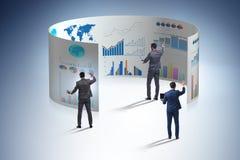 Le concept des graphiques de gestion et de la visualisation de finances photos libres de droits