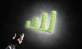 Le concept des opérations bancaires et de l'investissement a présenté avec la planète verte GR Image stock