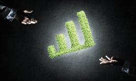 Le concept des opérations bancaires et de l'investissement a présenté avec la planète verte GR Photos libres de droits