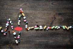 Le concept des soins médicaux pour la maladie cardiaque Photographie stock