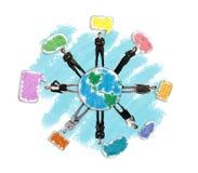le concept a digitalement produit salut du social de recherche de réseau d'image Photos libres de droits