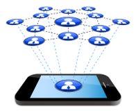 le concept a digitalement produit salut du social de recherche de réseau d'image Photo libre de droits