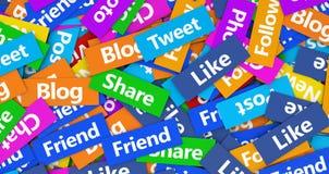le concept a digitalement produit salut du social de recherche de réseau d'image Photographie stock libre de droits