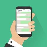 le concept a digitalement produit salut du social de recherche de réseau d'image Descripteur blanc Hublot de messager Chating et  illustration libre de droits