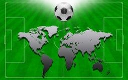 Le concept du football au fond. photo libre de droits