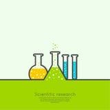 Le concept du laboratoire de recherches de science chimique illustration stock