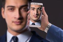 Le concept du logiciel et du matériel de reconnaissance des visages photo libre de droits