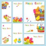 Le concept du poulet heureux de Pâques fleurit le lapin Photographie stock