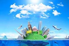 Le concept du réchauffement global Image libre de droits