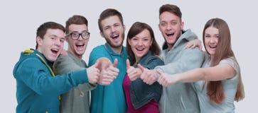 Le concept du succès est une équipe réussie de l'université gaie s Photos libres de droits