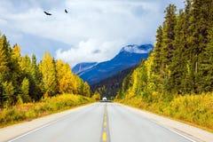 Le concept du tourisme d'active et d'automobile Images stock