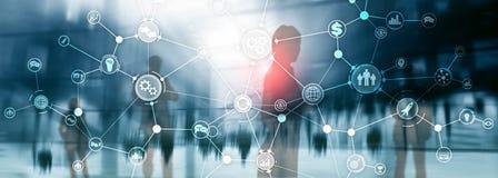 Le concept industriel d'innovation d'automation de diagramme de déroulement des opérations de structure de processus d'affaires s photo libre de droits