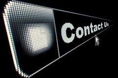le concept nous contactent Image stock