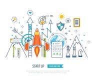 Le concept pour créent des affaires et financent la stratégie Croissance d'investissement Photographie stock
