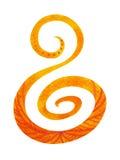 Le concept sacré de symbole de chakra, fleurissent floral, peinture d'aquarelle Photographie stock libre de droits