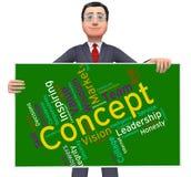 Le concept Word signifie la pensée et l'invention d'abstraction Photographie stock libre de droits