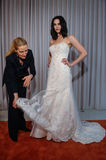 Le concepteur Michelle Roth est vu à la présentation de collection de Michelle Roth Bridal Spring 2016 Images stock